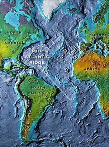 Mid Atlantic Ridge Longest Mountain Range On Earth Maps Globes
