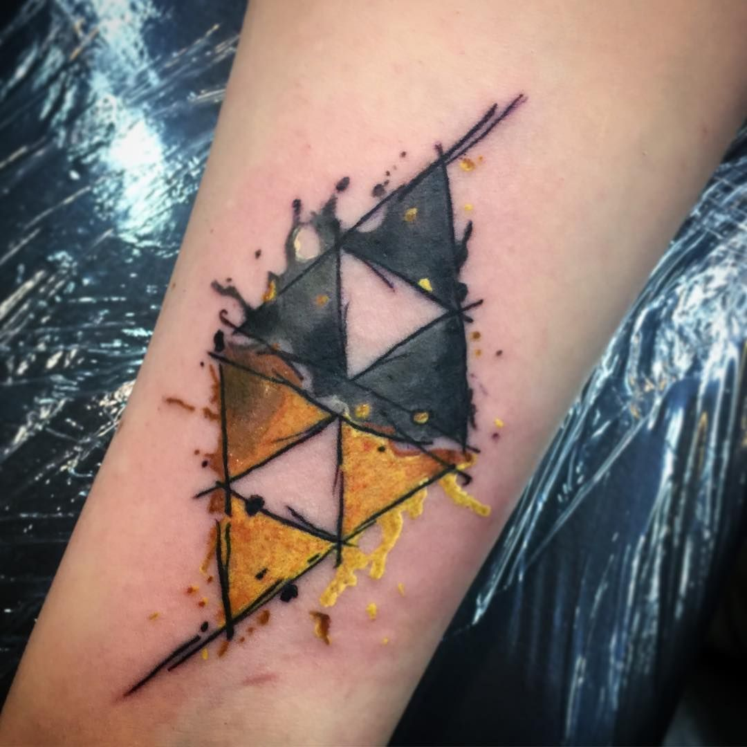 85+ Mighty Triforce Tattoo Designs & Meaning Discover