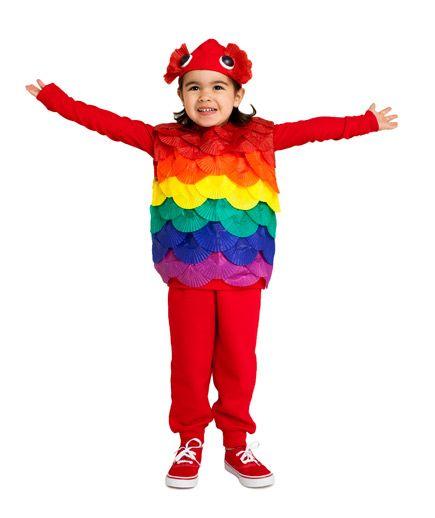 24 Homemade Halloween Costumes for Kids  sc 1 st  Pinterest & 24 Homemade Halloween Costumes for Kids | Rainbow fish costume Fish ...