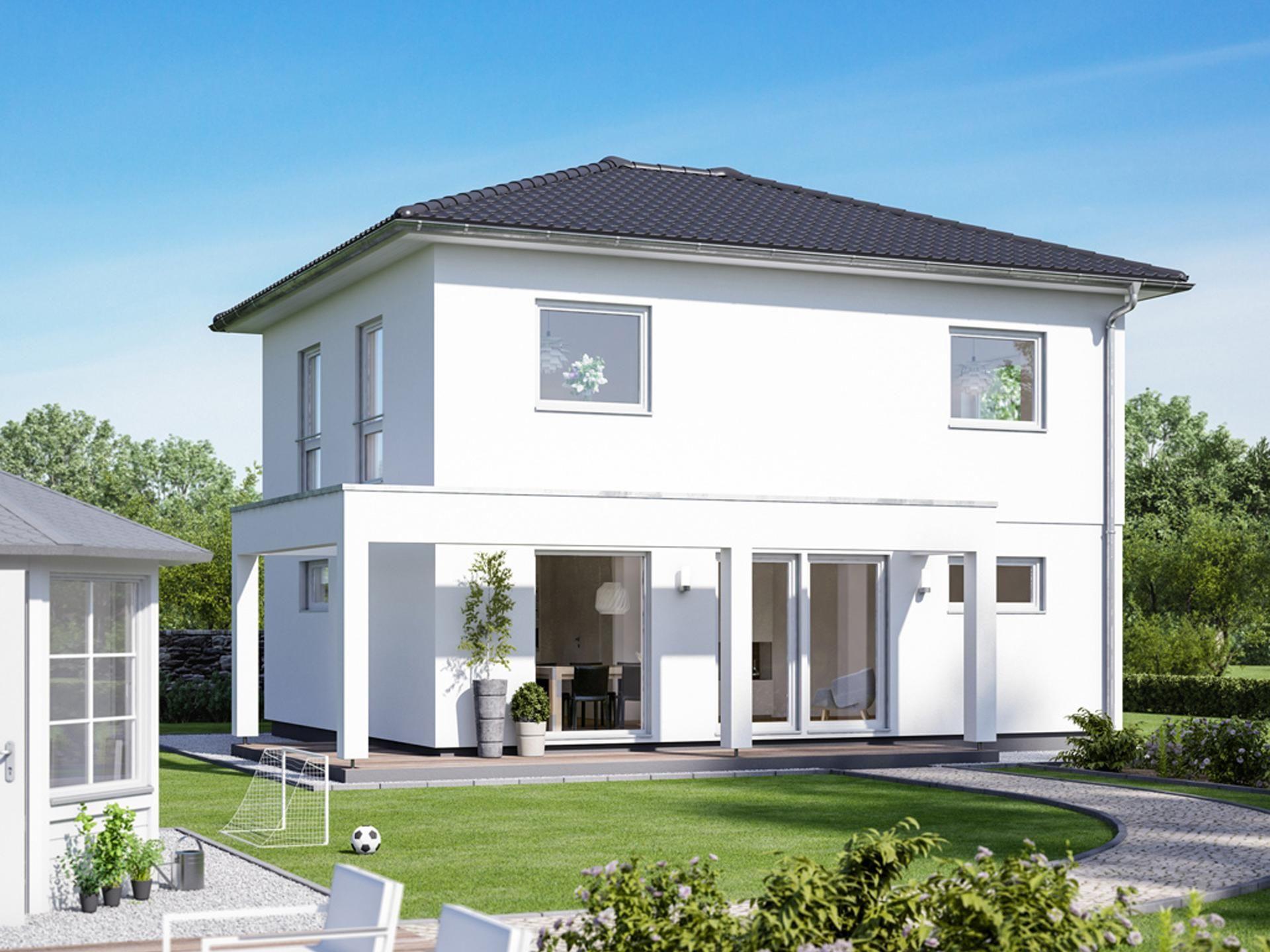 Aktionshaus mit Walmdach und 120 qm Stadtvilla, Haus und