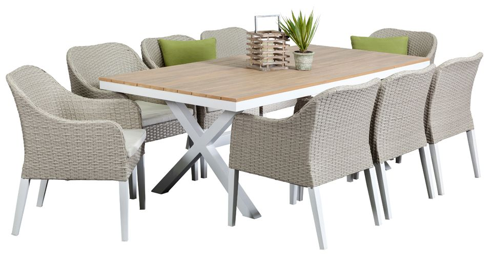 Maine 8 Seater, Outdoor Dining Furniture, Outdoor Dining Settings, Outdoor  Dining Table And