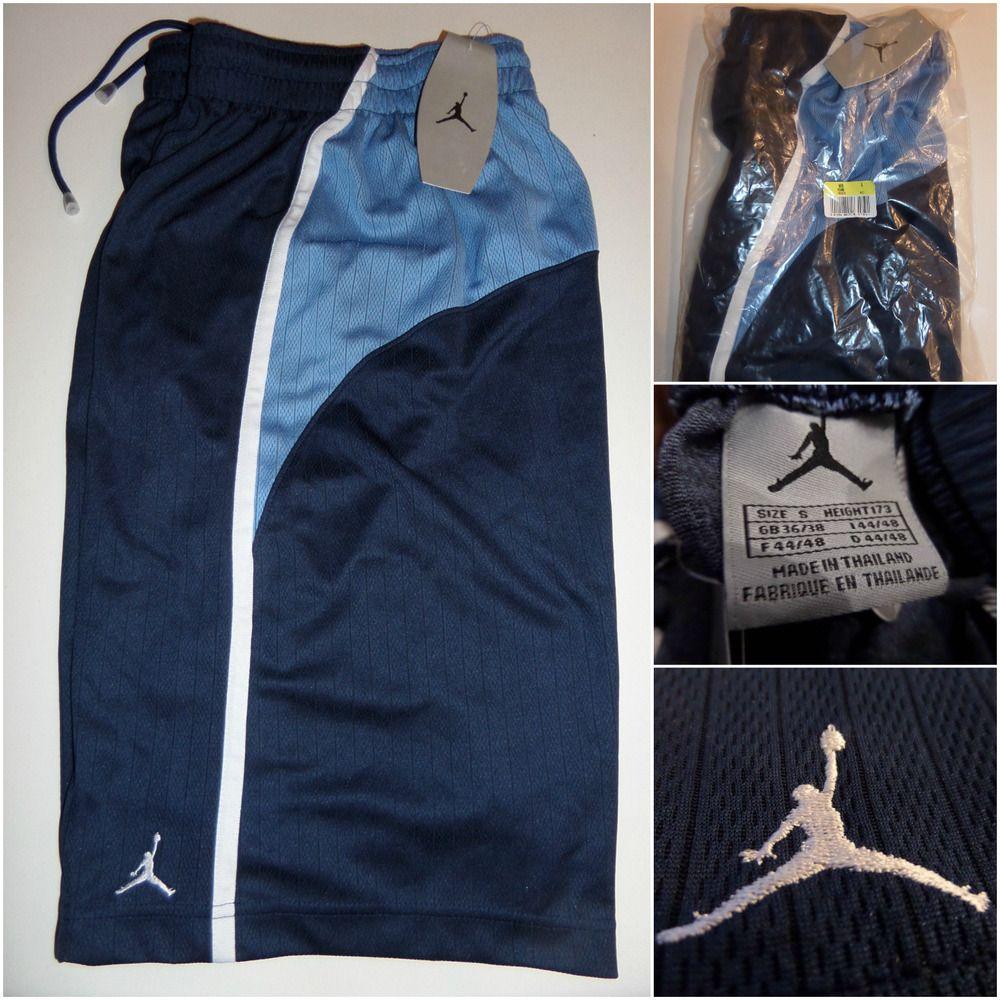 Vtg Nike AIR JORDAN Basketball Shorts Vintage Blue 180935