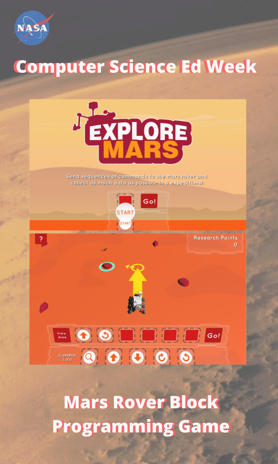 Mars Rover Block Programming Game Science Skills Mars Rover Math Lesson Plans [ 1500 x 900 Pixel ]