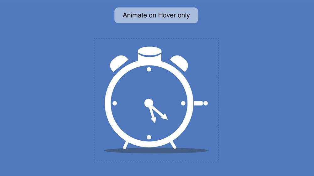 A beautiful CSS+SVG only, animated Alarm Clock  The