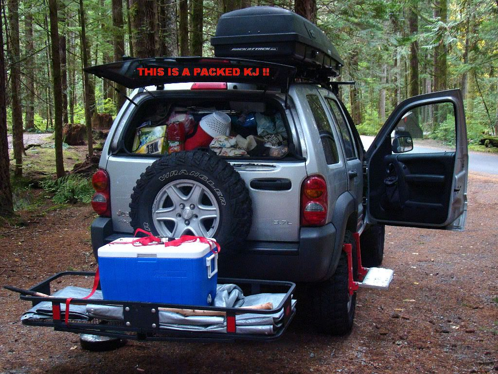 Hitch cargo carrier with spare jeep liberty forum jeepkj country