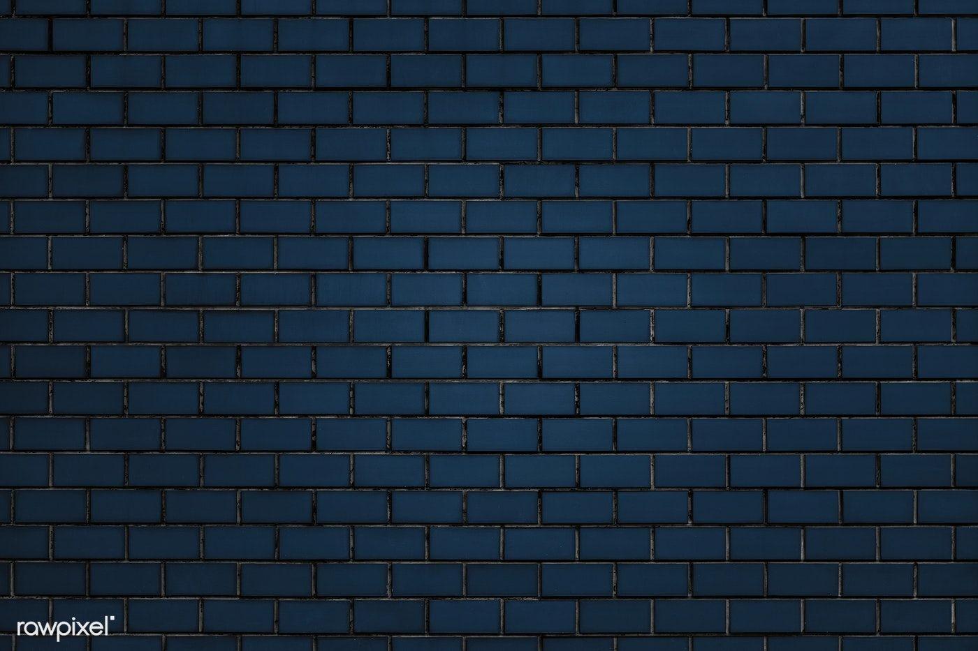 Blue Brick Wall Textured Background Free Image By Rawpixel Com Ake Chim Brick Wall Background Textured Background Brick Wall