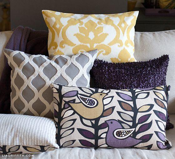 Easy DIY Pillow Covers & Easy DIY Pillow Covers | Sew pillows Bed frames and Pillows pillowsntoast.com