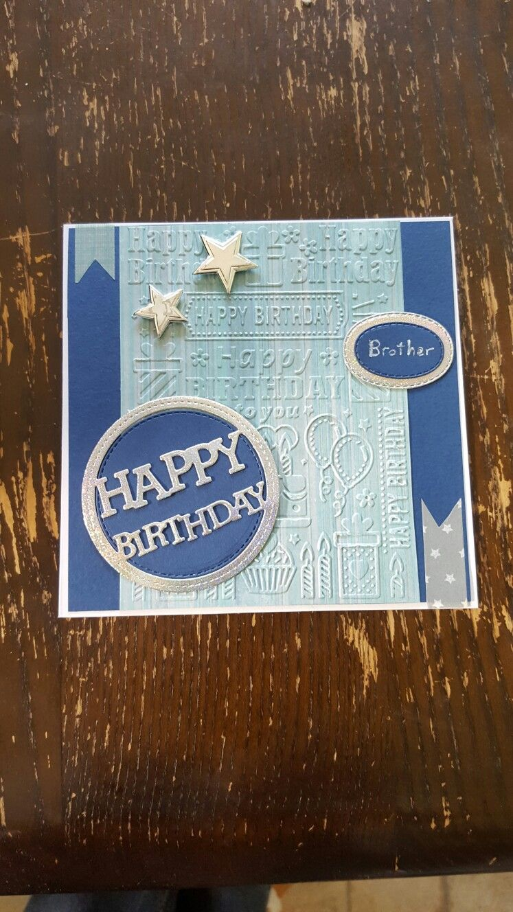 Simple Masculine Birthday Card Bd Cards Male Pinterest