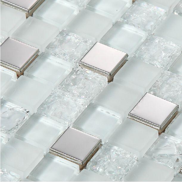 Metal With Crackle Glass Tile Brown And Copper New Silver Crackle White Glass Tile Ba Kitchen Window Treatments Diy Glass Backsplash Glass Backsplash Kitchen