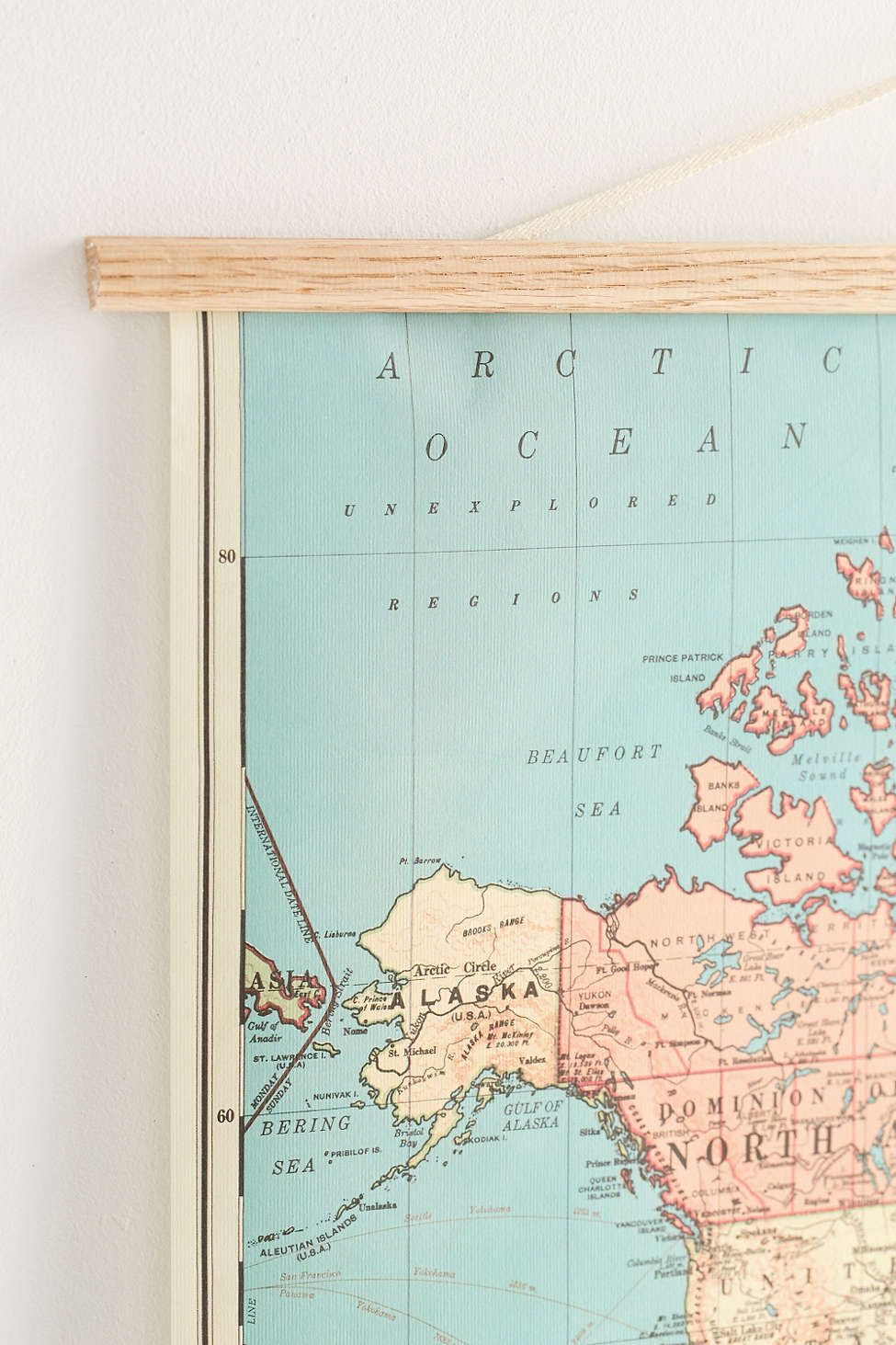 Hanging world map art print wall decor spaces and walls hanging world map art print gumiabroncs Image collections