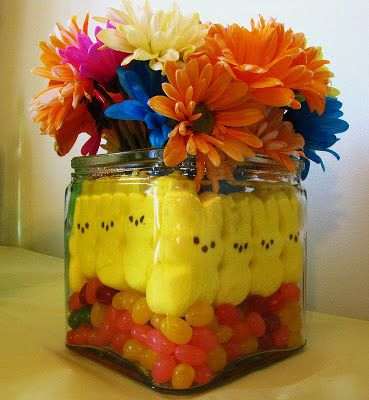 Six in the Suburbs: Peeps Easter Floral Vase