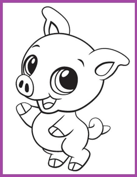 Tiernos Lapiz Dibujos Para Colorear De Animales