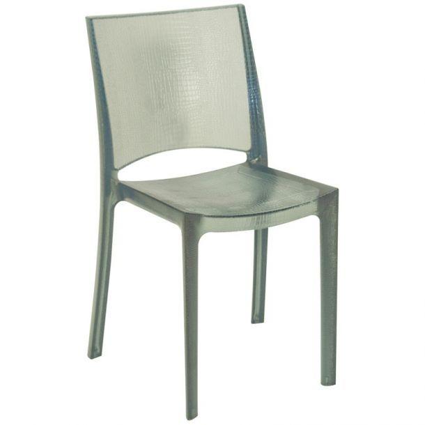 Стул Nilo Light Smoked Grey Прозрачный Прозрачные стулья для дома - Conforama Tables De Cuisine