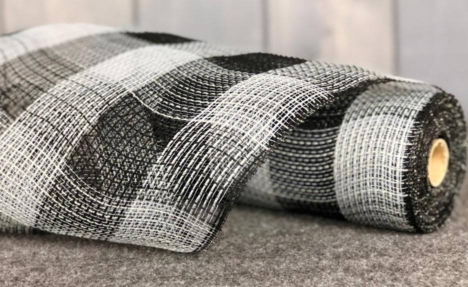 Check Fabric Mesh Grey Black Check 10 5 X 10yd Check Fabric Fabric Plastic Mesh