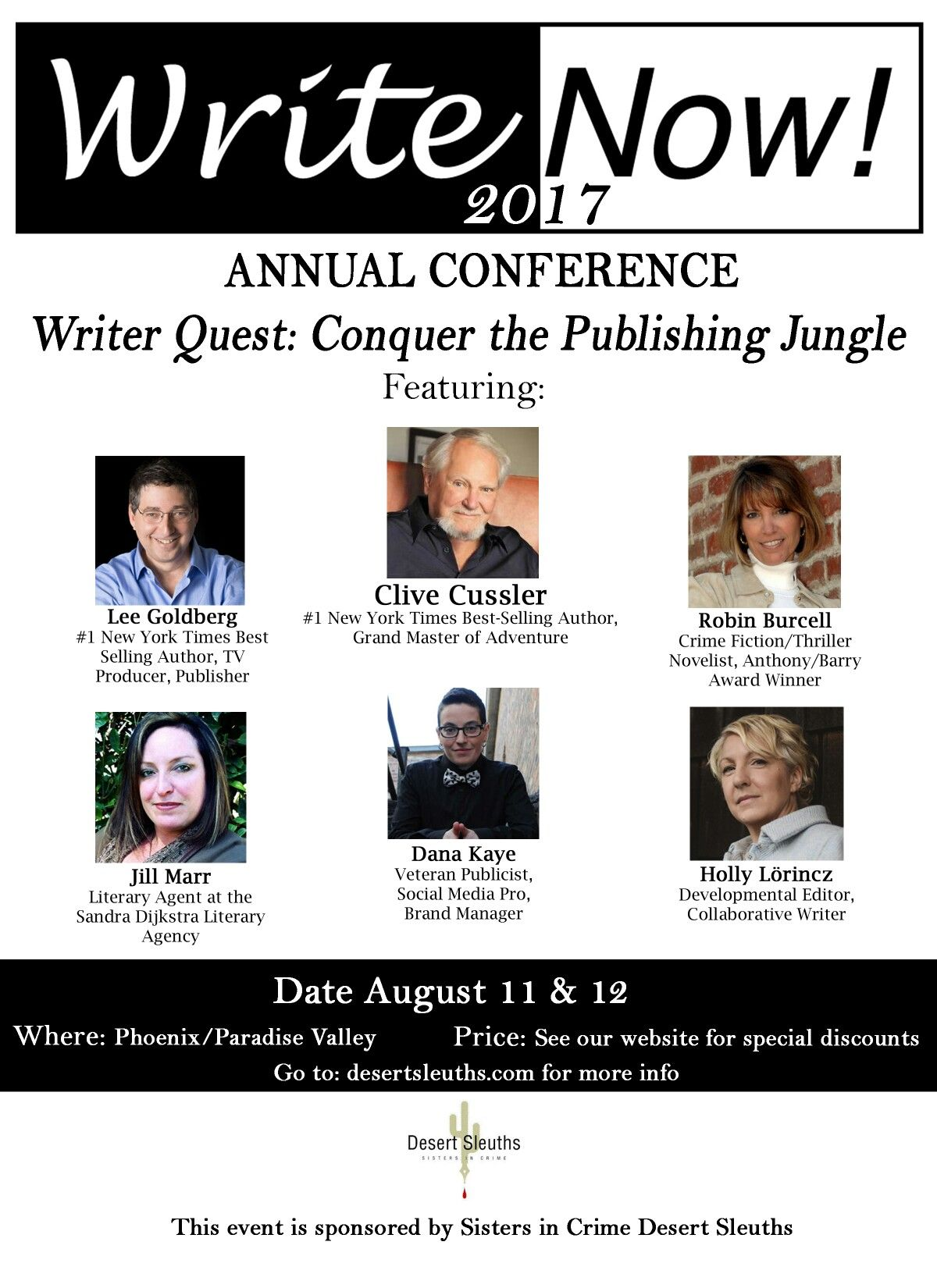 Writenow 2017 Conference Sisters In Crime Crime Fiction Literary Agency