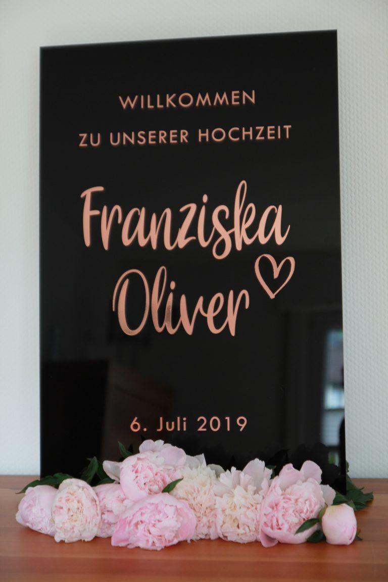 Acryl Willkommensschild Hochzeit Din A2 Hochzeit Willkommensschild Hochzeit Deko