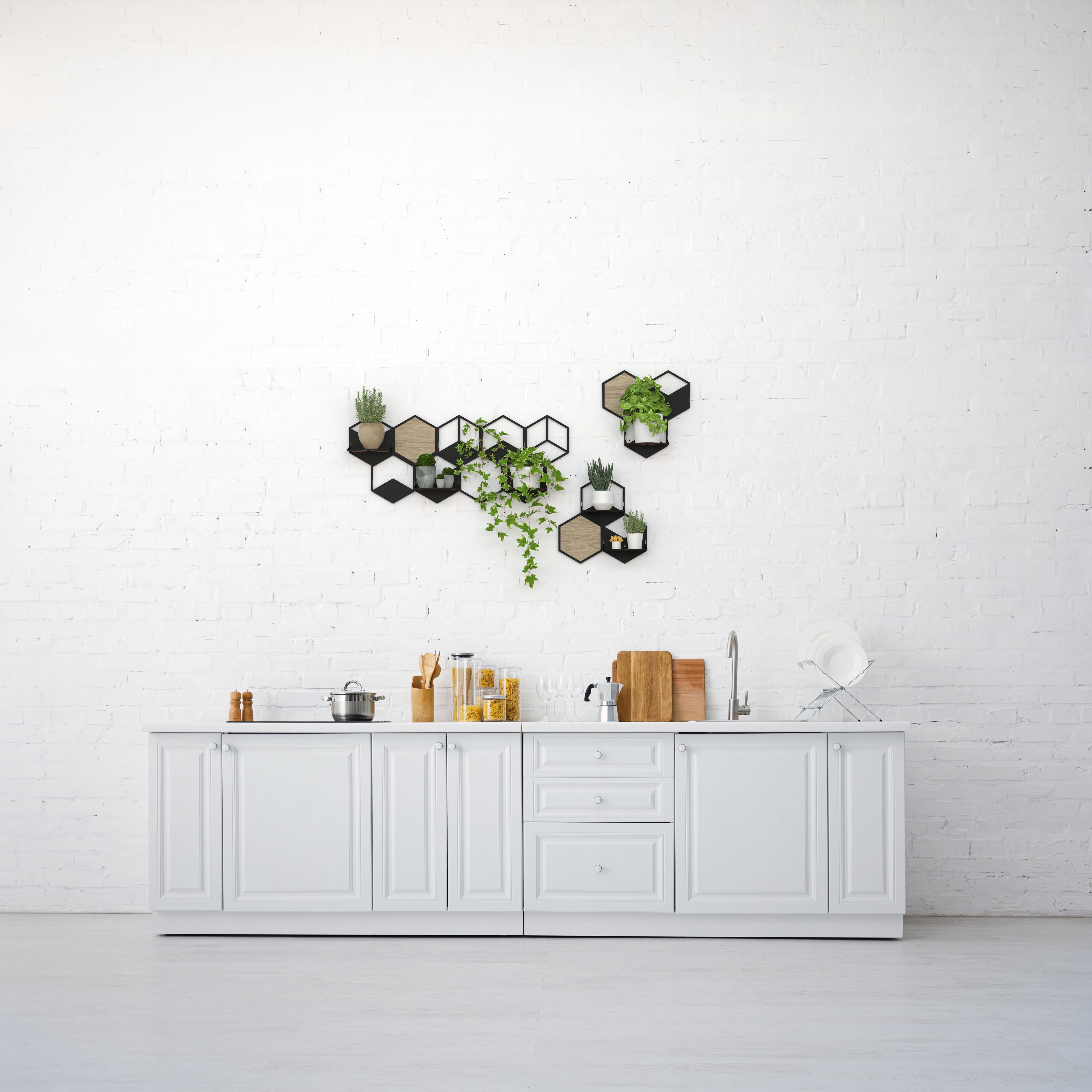 Photo of Third Wave Cafe Shop Design, Wall Decoration, Metal Planter Design, Modular Wall Plant Holders