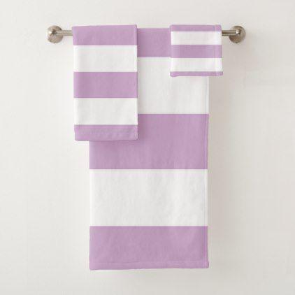 Purple Stripe Bath Towel Set Zazzle Com Towel Set Bath Towels Bath Towel Sets