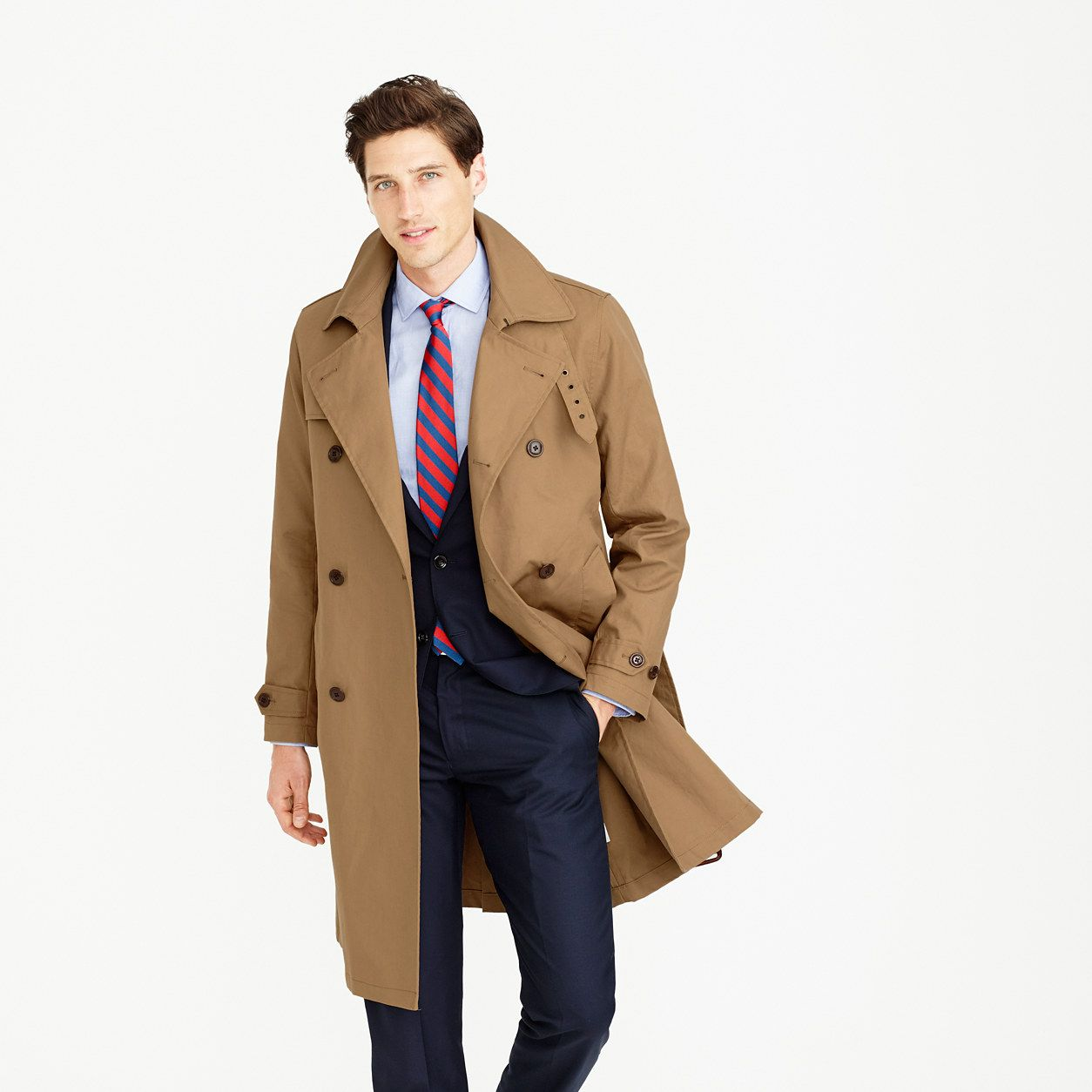 9956c03893d J.Crew Mens Ludlow Double-Breasted Water-Repellent Trench Coat (Size ...