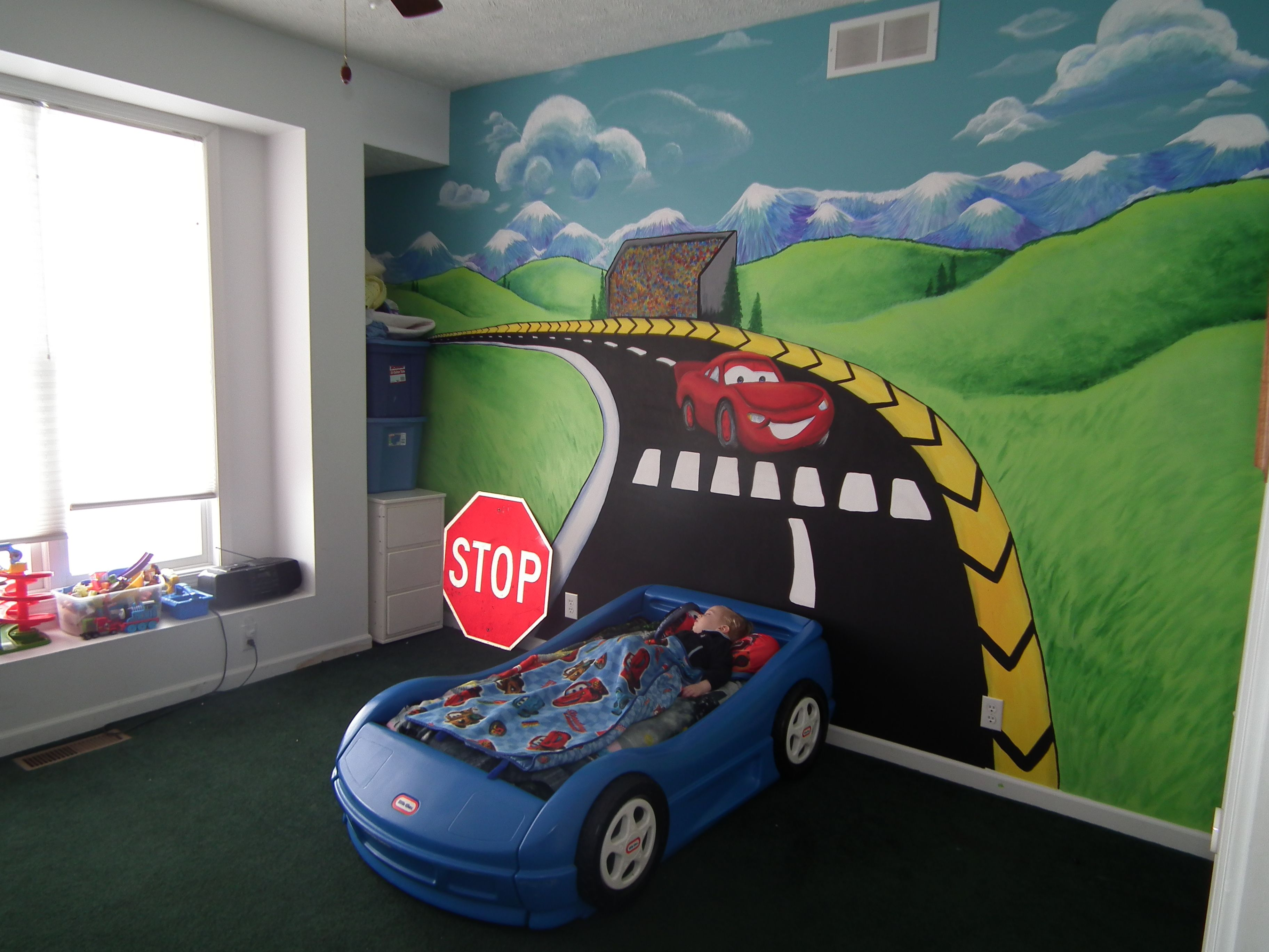 race car mural Cars Mural Coles Room ideas Pinterest Cars