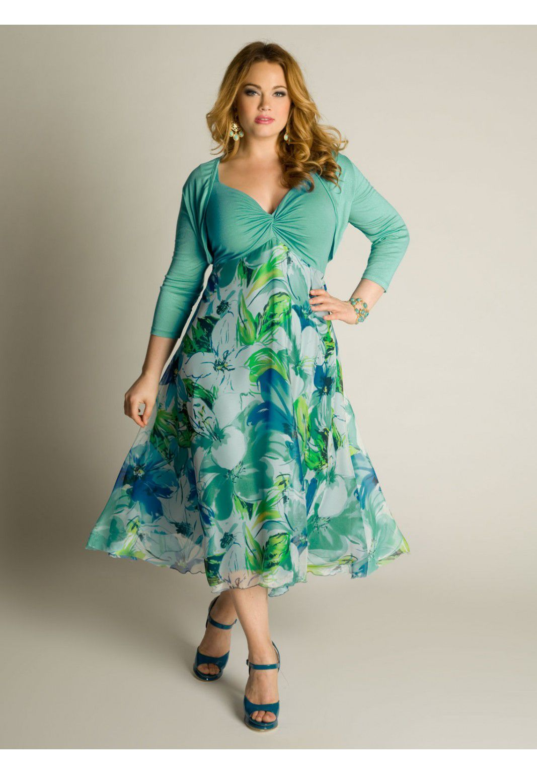 Plus Size Riella Sun Dress image - OOOooo for a spring wedding guest ...