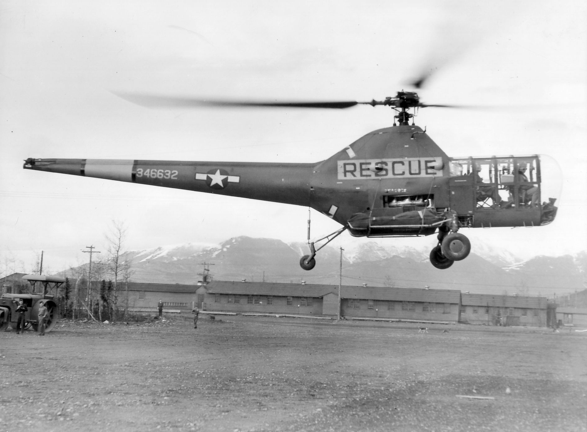 Sikorsky S-51 / H-5 Dragonfly - 17 May 1947, 10th Rescue Squadron helicopter -183rd General Hospital Fort Richardson, Alaska