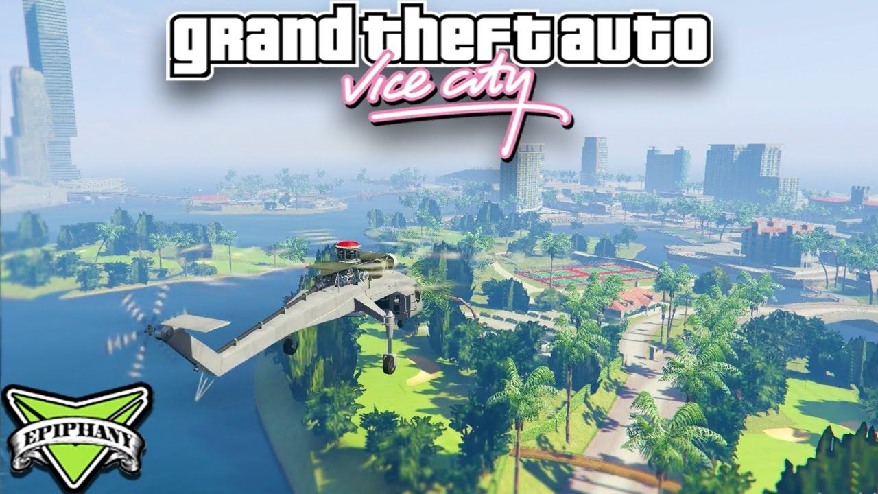 GTA 5 Mods VICE CITY MOD - GTA Vice City FREE ROAM