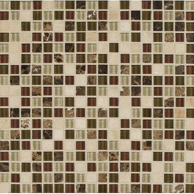 "Bedrosians Eclipse 0.63"" x 0.63"" Glass Mosaic Tile in Merlot"