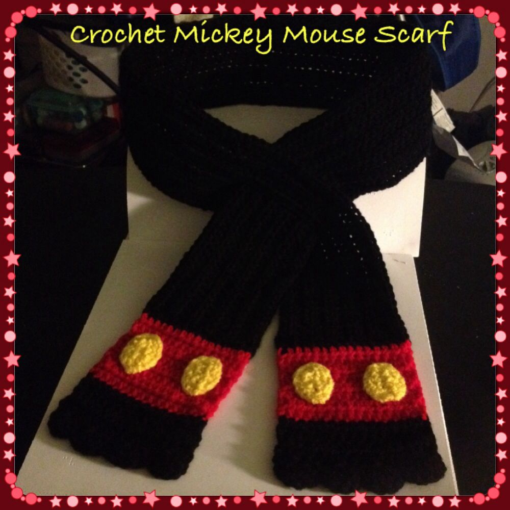 Crochet Mickey Mouse Scarf | My Favorites | Pinterest | Tejido ...