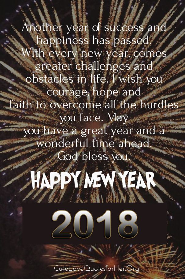 Top 20 Happy New Year 2018 Images And Love Quotes For Her / Him Great Ideas