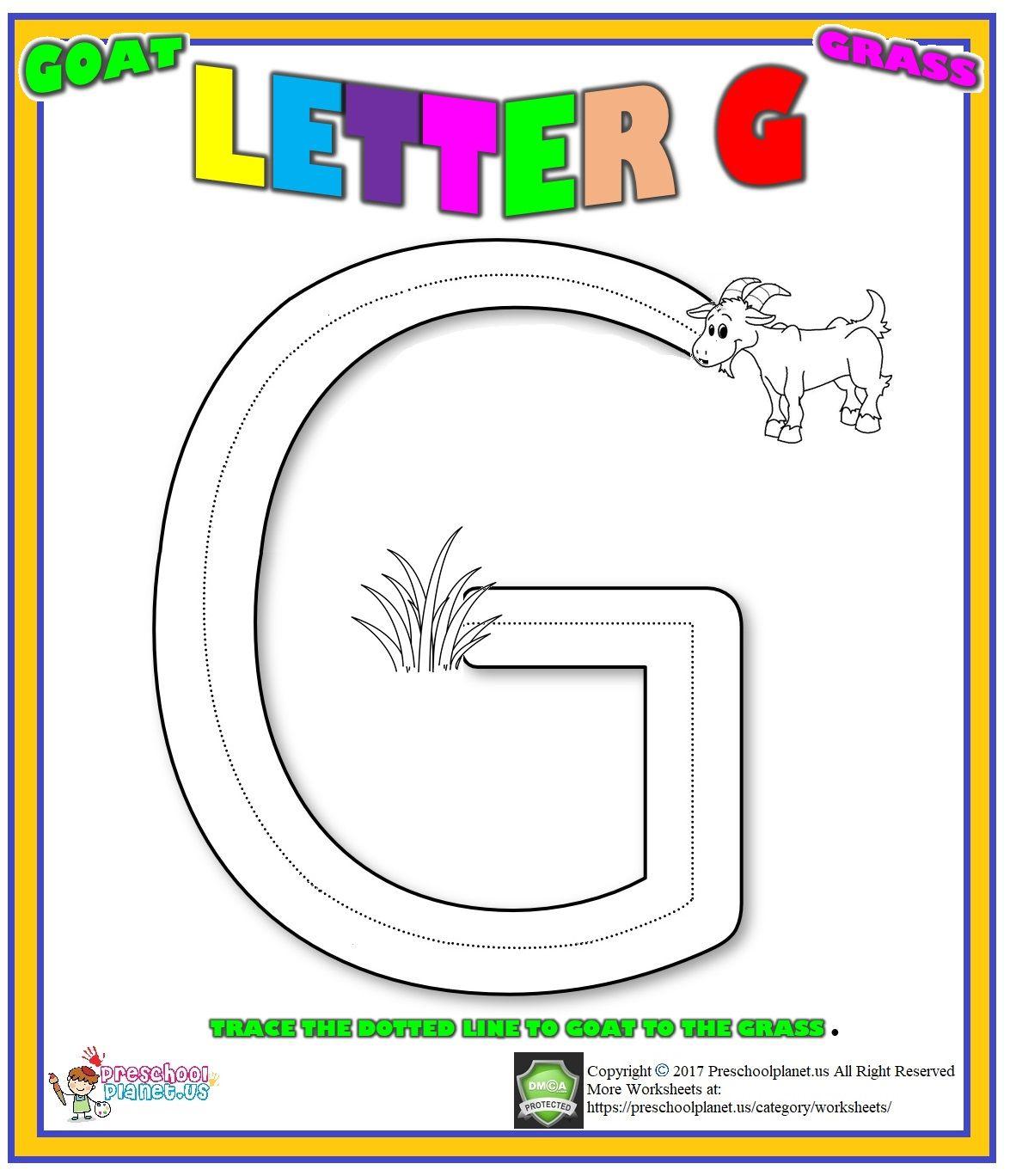 Letter G Worksheet For Preschool