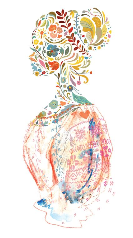 the Folk Blouse - fashion Illustration by Adina Conisceac