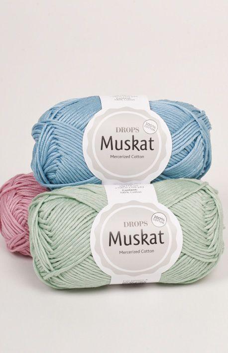 DROPS Muskat es un hilo de algodón muy colorido, hecho de algodón ...