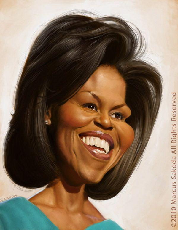 Resultado de imagen para Caricatura de Michelle Obama