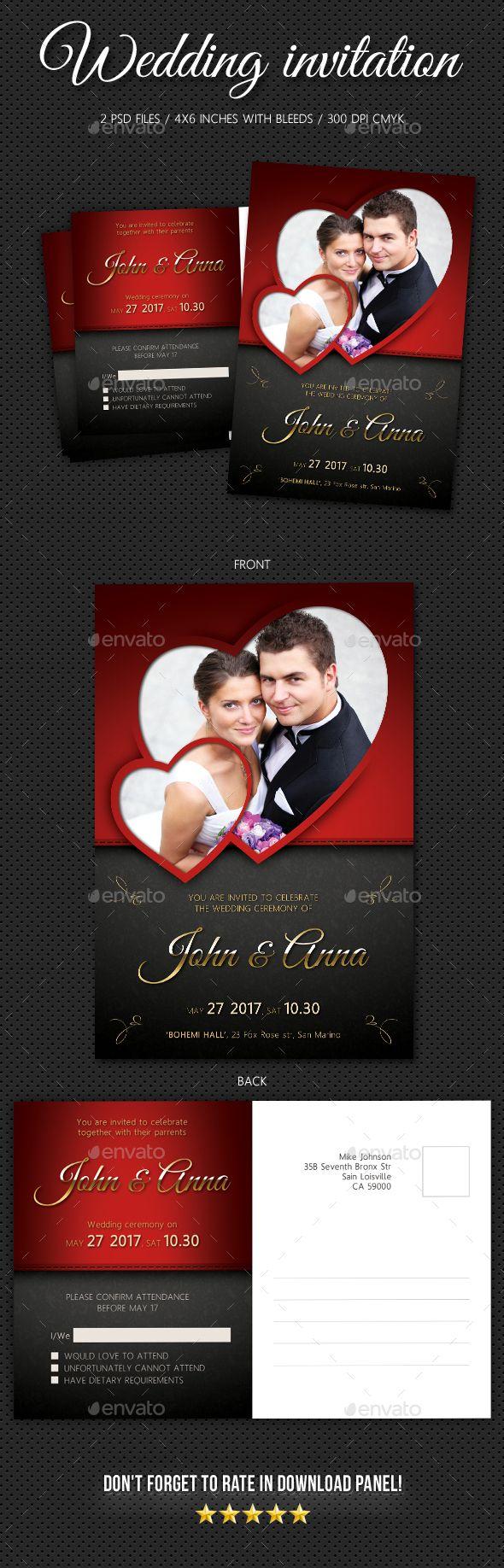Wedding Invitation V3 | Card printing, Font logo and Wedding
