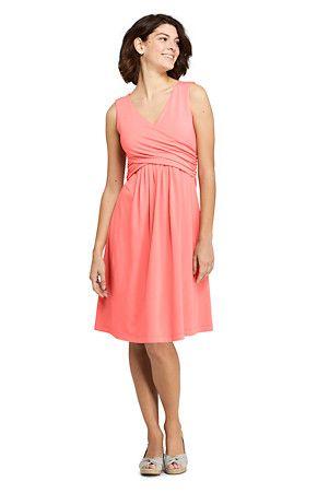 jerseykleid mit wickeloberteil für damen  knielange kleider kleider für frauen ausgestelltes