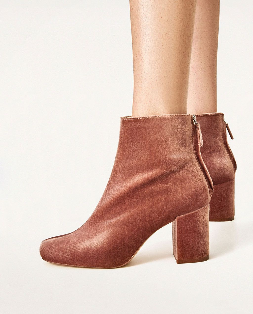 e1a11445192 HIGH HEEL VELVET ANKLE BOOTS-View all-SHOES-WOMAN