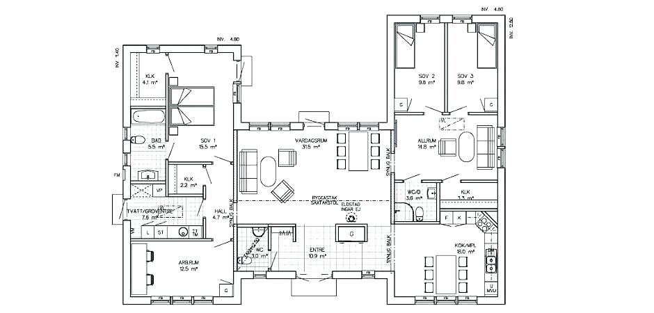16+ H shaped ranch house plans image popular