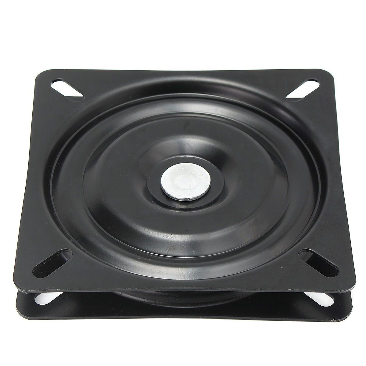 6 inch 360 degree swivel seat mount base black coated