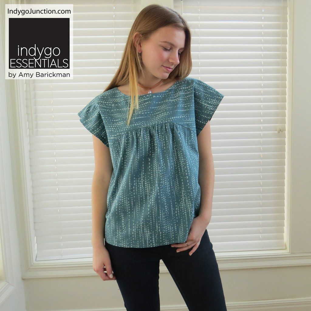 Indygo Essentials: Slight Sleeve Top & Tunic Pattern | sewing