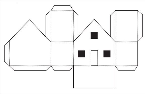 Paper House Template - 19+ Free PDF Documents Download #gingerbreadhousetemplate