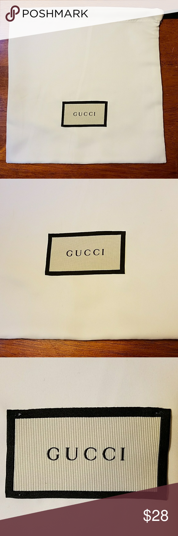 d79aa534fe6c Gucci Belt Dust Bag White Satin Gucci White Satin Dust Bag Small size for  belt, wallet, mini crossbody, etc, 9.5x9.5 Authentic and brand new Gucci ...