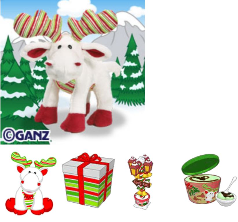 Animals 150106 New Ganz Webkinz Soft Minty Moose Hm475 Red Green Christmas Pet W Sealed Code Buy It Now Only 17 79 O Webkinz Christmas Animals Tea Party