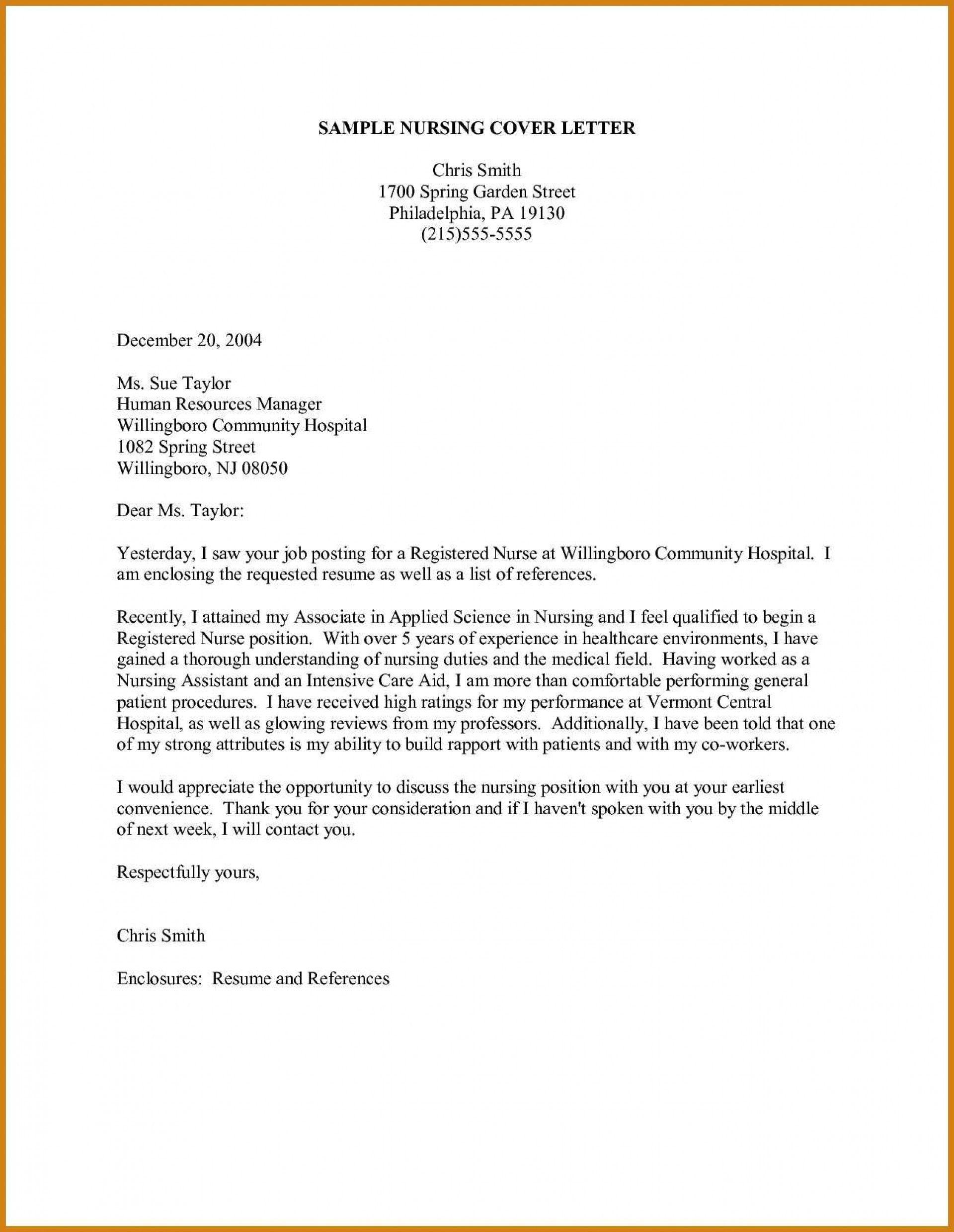 26 Nurse Cover Letter Nursing Cover Letter Cover Letter For Resume Cover Letter Template Free