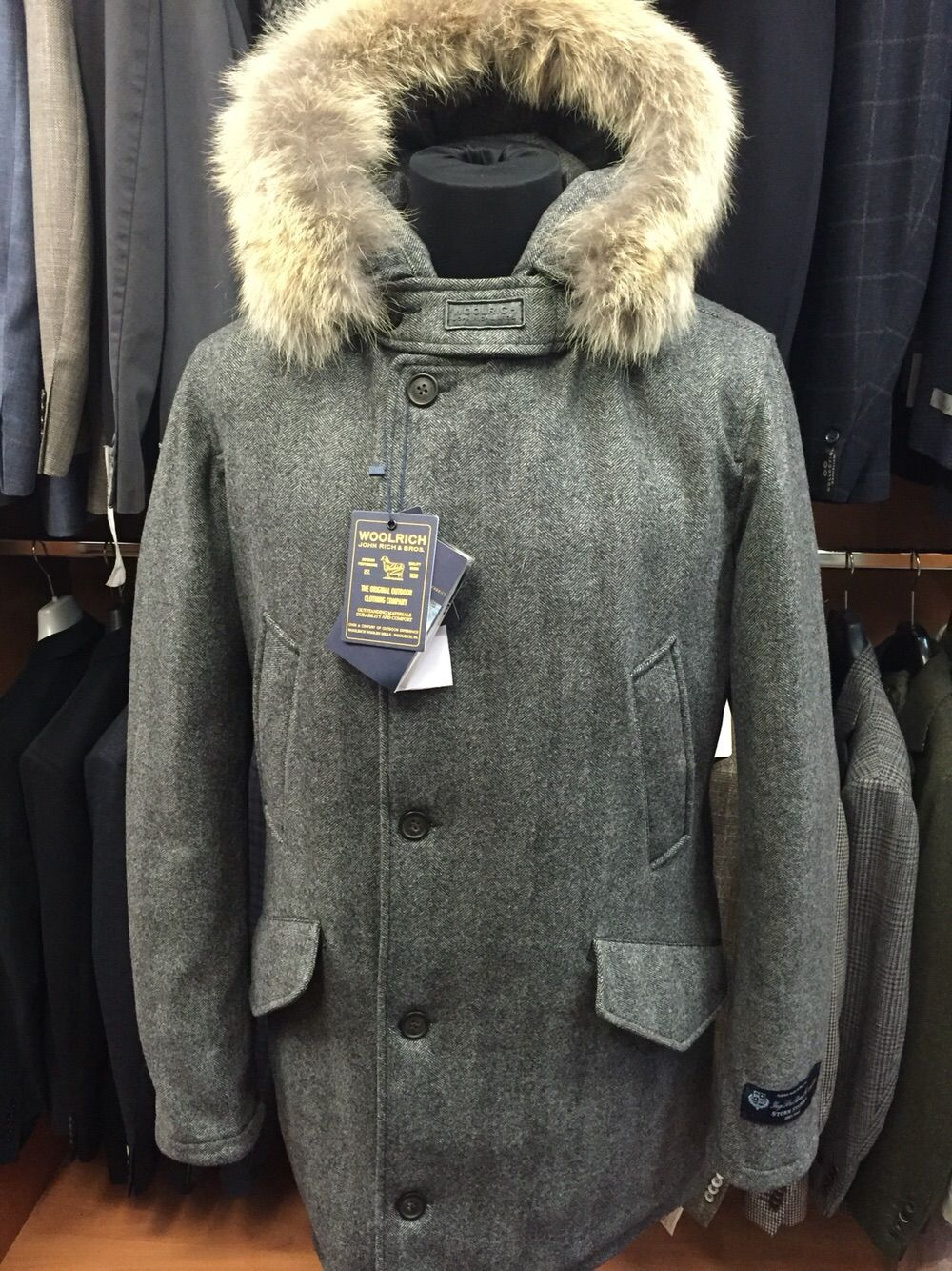 Esecuzione Speciale Del Parka Woolrich In Tessuto Impermeabile Storm