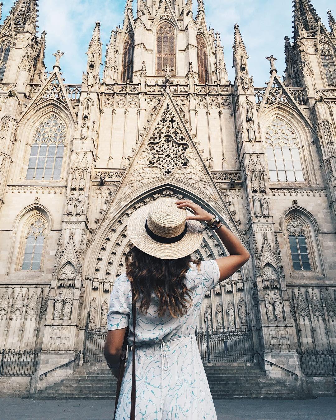 Collage Vintage, Catedral Gotica Barcelona