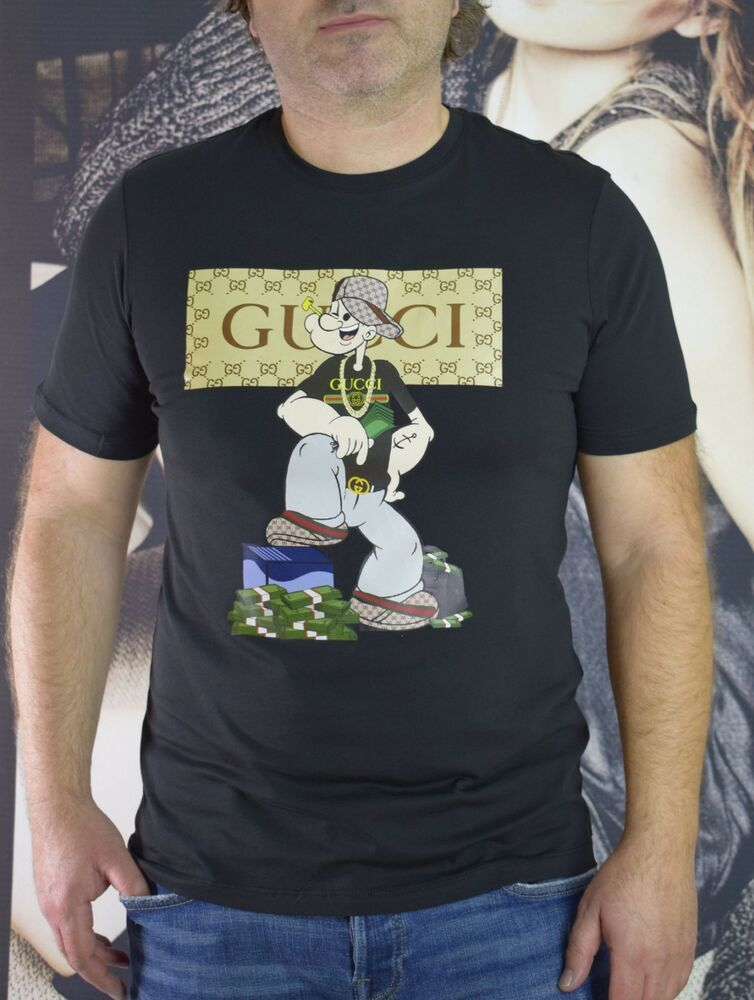 46ac756d3fc9 Gucci Men Popeye T-shirt Black size L #fashion #clothing #shoes  #accessories #mensclothing #shirts (ebay link)
