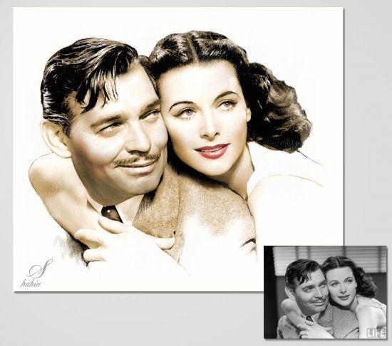 Clark Gable, Hedy Lamar by shahin
