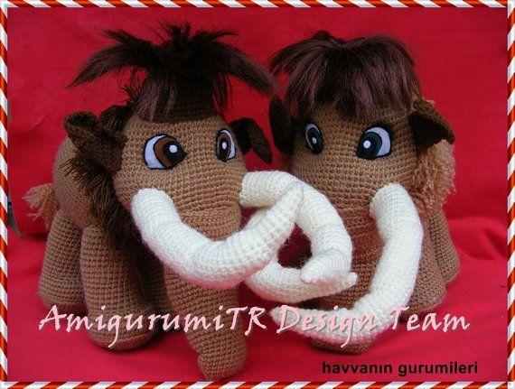 Elliemany From Ice Age Amigurumitrdesignteam Toys To Crochet