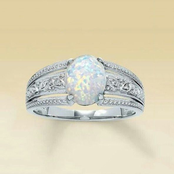 Exquisite Women Fashion Jewelry 925 Silver Ring Wedding Engagement Gift Size6-10